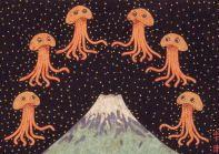 富士山に火星人